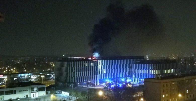 Ogromny pożar biurowca w Katowicach! Dym i ogień widać z daleka! (fot.katowice24.info)