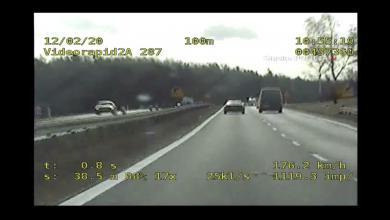 Zdjęcie z wideorejestratora policyjnego znajdującego się w nieoznakowanym radiowozie. [fot. Śląska Policja]
