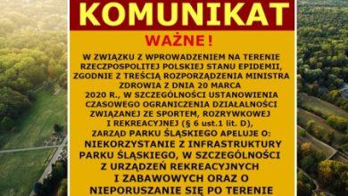 Nie korzystajcie z infrastruktury Parku Śląskiego! Zarząd Parku Śląskiego apeluje (fot.Park Śląski)
