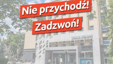 Nie przychodź! Zadzwoń! Urząd Miasta w Gliwicach wydał KOMUNIKAT (fot.UM Gliwice)