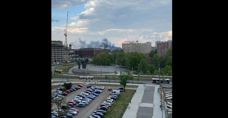 Potężna chmura dymu nad Katowicami! To pożar w Szopienicach!