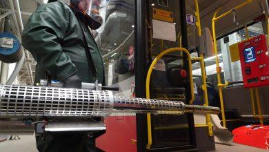 Specjalne kipy dezynfekują autobusy i tramwaje w całym regionie. Powód? Oczywisty (fot.MPK Częstochowa)
