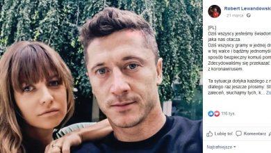 Koronawirus: Anna i Robert Lewandowscy dają 200 tys.zł na szpital w Tychach! (fot.facebook)