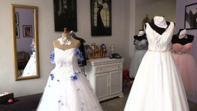 Suknia ślubna z maseczką! Krawcowe i projektantki tworzą maseczki na śluby!