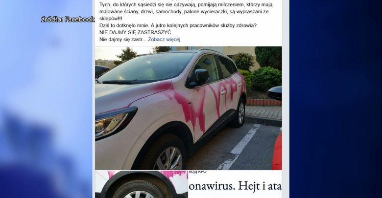 Epidemia hejtu wobec lekarzy na Śląsku! W Gliwicach idioci zmasakrowali pielęgniarce auto!
