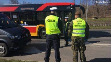 Śląskie: Żołnierze Wojsk Obrony Terytorialnej wyszli na ulice (fot.Śląska Policja)