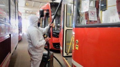 Dezynfekcja wagonów środkiem bakterio- i wirusobójczym jest działaniem standardowym, prowadzonym przez firmę sprzątającą wagony w spółce Tramwaje Śląskie S.A (fot.Tramwaje Śląskie)