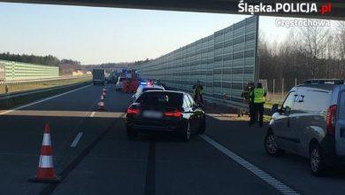 Śląskie: Przechodził przez autostradę. Zginął na miejscu (fot.Śląska Policja)