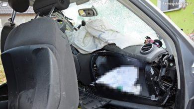 Tarnowskie Góry: Tragiczny wypadek na ul. Grzybowej. Nie żyje 23-letni kierowca audi (fot.Śląska Policja)