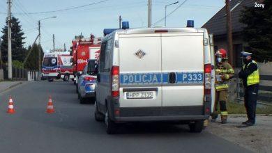 Wypadek w Żorach. Kierowca zasnął za kierownicą. Fot. Śląska Policja
