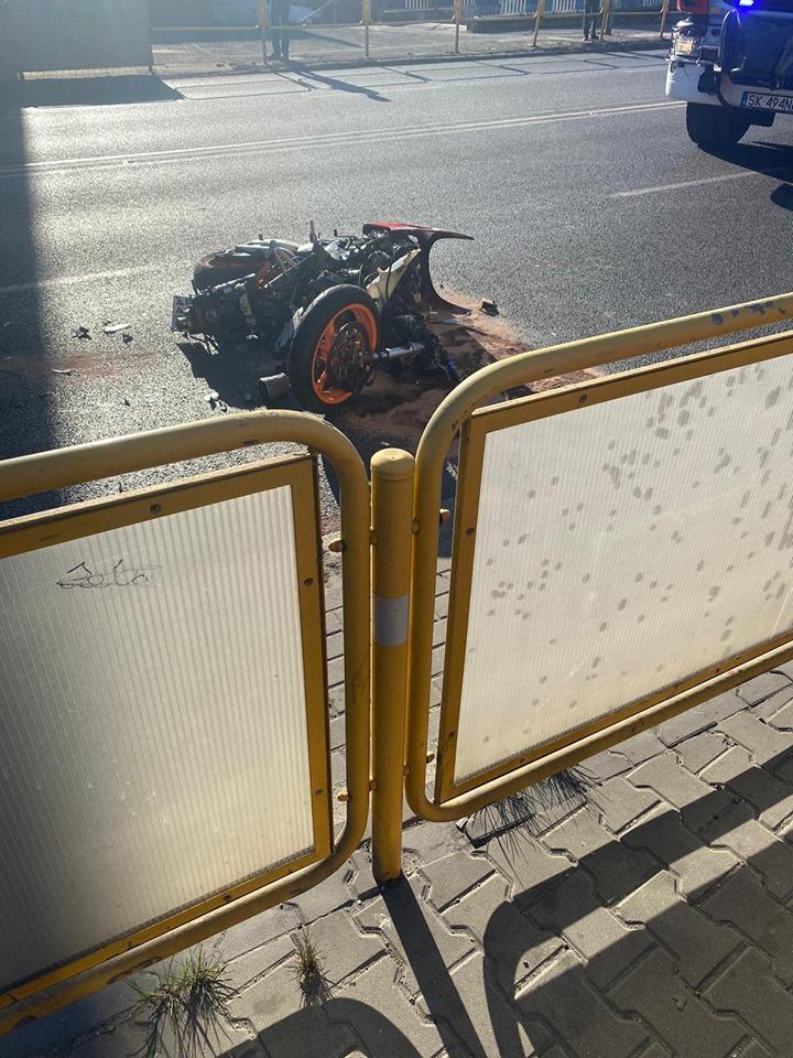 Kolejny, niestety śmiertelny wypadek motocyklisty w piątek, 10 kwietnia. Tym razem w Chorzowie. (foto: Marcel Żak)