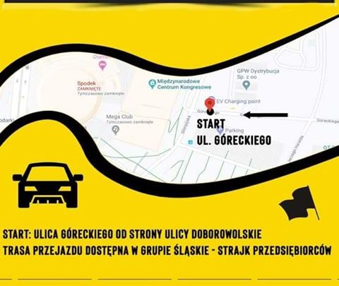 Strajk przedsiębiorców w Katowicach - wyjadą na ulice autami.
