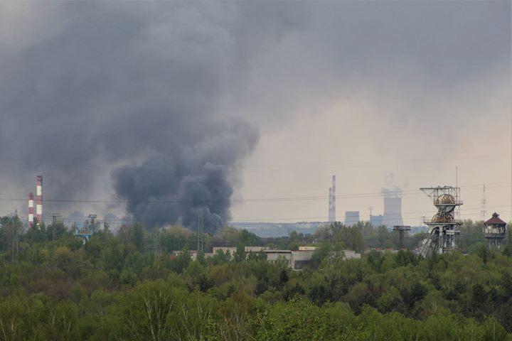 Potężna chmura dymu nad Katowicami! To pożar w Szopienicach! (foto: www.katowice24.info)