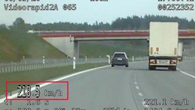 Śląskie: Prawie 140km/h za szybko! [WIDEO] Policjanci z grupy Speed zatrzymali kierowcę mercedesa (fot.Śląska Policja)
