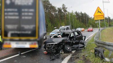Śląskie: Tragedia w Krzepicach. Nie żyje kierowca forda. Policja szuka świadków (fot.Śląska Policja)