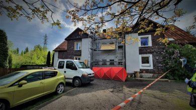 Śląskie: Tragiczny wypadek podczas prac remontowych. Mężczyzna spadł z rusztowania. Zginął na miejscu (fot.KPP Mikołów)