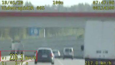 215 km/h po autostradzie A1. Kierowca audi złapany przez grupę SPEED [WIDEO]
