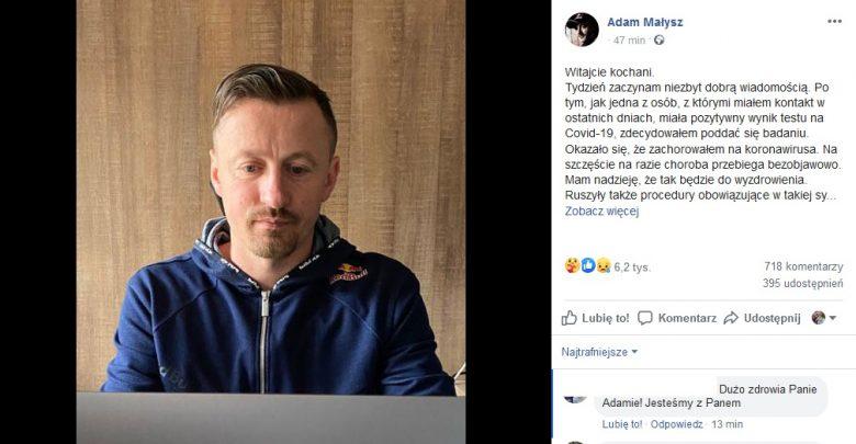 Adam Małysz ma koronawirusa! Narciarski mistrz wszech czasów wydał OŚWIADCZENIE!