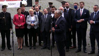 Przed pomnikiem Powstańców Śląskich w Katowicach zaprezentowano Honorowy Komitet Poparcia Andrzeja Dudy