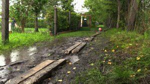 Dla działkowców z Rudy Śląskiej-Bielszowic każdy większy deszcz oznacza spore problemy