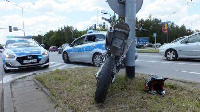 Pościg za motorowerzystą w Żorach. [fot. Sląska Policja, Żory]