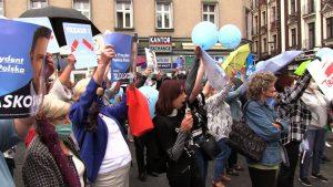 """Na sosnowieckiej """"Patelni"""" odbył się wiec poparcia dla kandydatury Rafała Trzaskowskiego"""