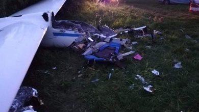 Wypadek szybowca. Pilot w ciężkim stanie przebywa w szpitalu (fot. Policja Podkarpacka)