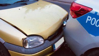 Uciekał przed policją, dobił do radiowozu. Nie miał prawa jazdy. Fot. Śląska Policja