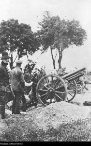 III powstanie śląskie - bateria powstańcza na pozycji ogniowej pod Sławięcicami.(1) źródło foto: Narodowe Archiwum Cyfrowe