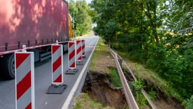 Bytom: Skarpa nasypu osunęła się na DK 78! [FOTO] Utrudnienia od 6 lipca (fot.UM Bytom)