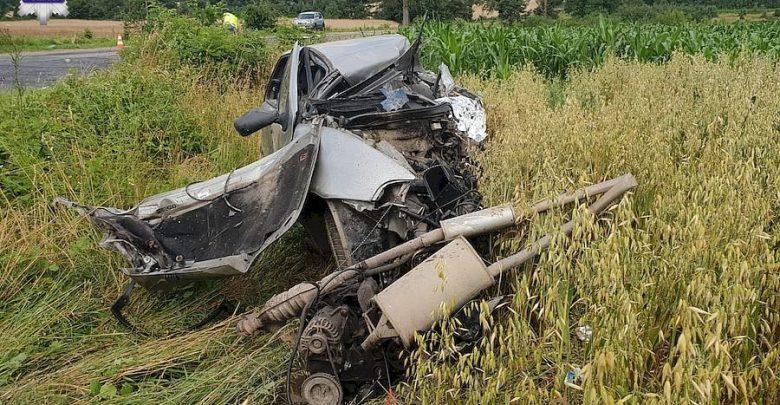 Zderzyła się z ciężarówką. Kierująca fiatem punto zginęła na miejscu (fot.Policja Lubelska)