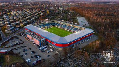 Piast Gliwice wymienia murawę na stadionie. Na puchary będzie już nowa (fot.Piast Gliwice)