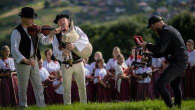 Zdjęcia z nagrań filmowych 57. TKB Trwajmy w tradycji, fot. Daniel Frymark/Okiem Fotoreportera