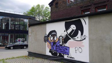 Mural Trzaskowskiego w Katowicach znów zamalowany. Fot. Katowice24.info