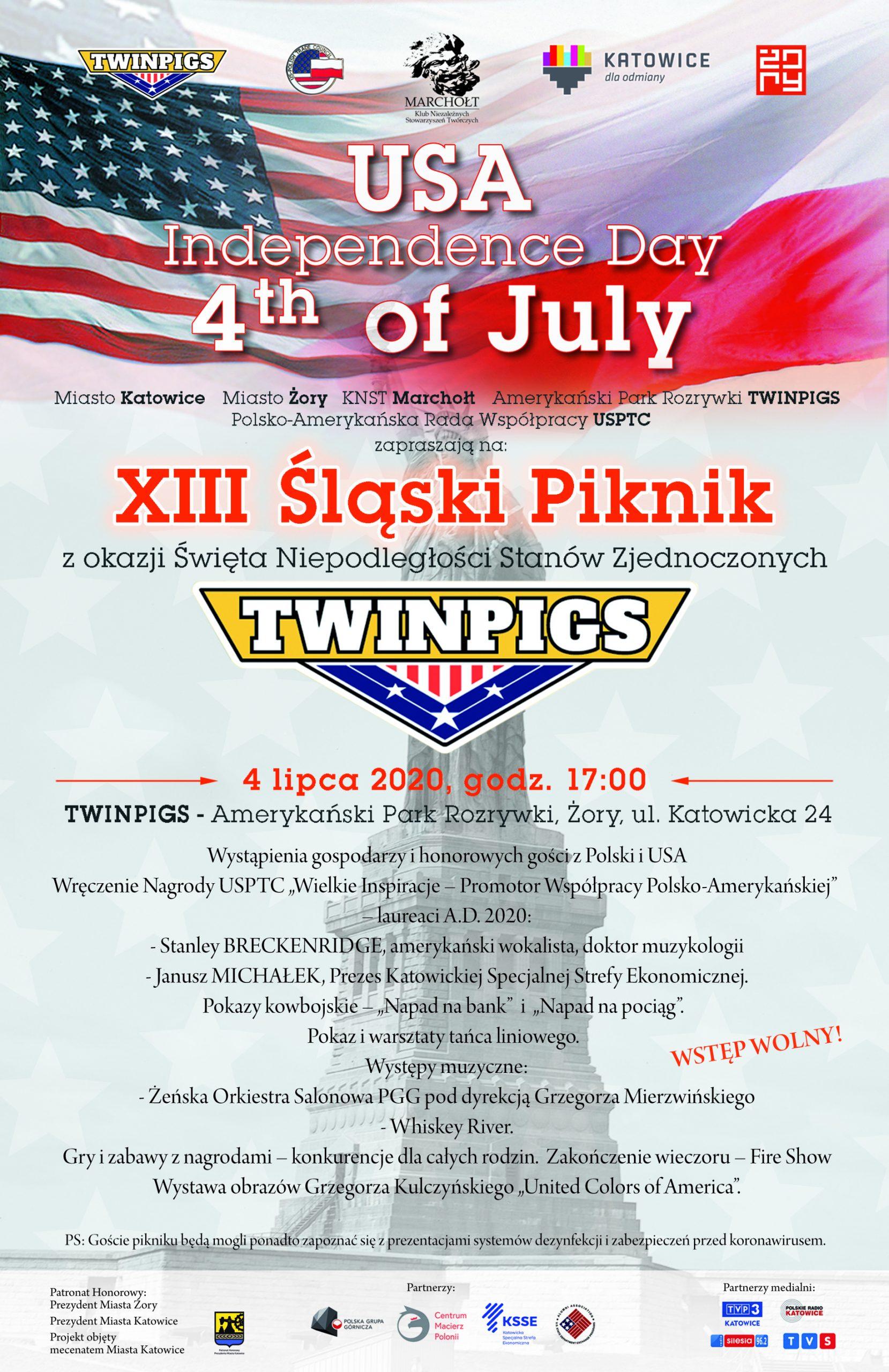 """Twinpigs: XIII Śląski Piknik 4th of July (fot. Klub Niezależnych Stowarzyszeń Twórczych """"Marchołt"""")"""