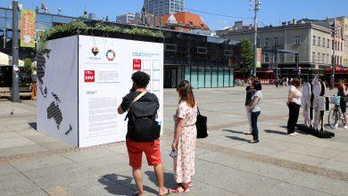 17 celów zrównoważonego rozwoju. Nowa instalacja na katowickim Rynku (fot.UM Katowice)