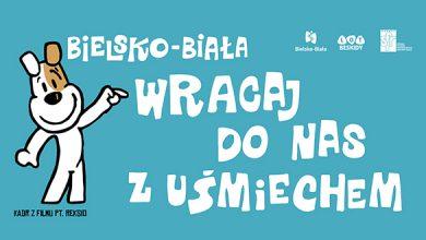 Reksio zachęca do pobytu w Bielsku-Białej. Fot. UM w Bielsku-Białej