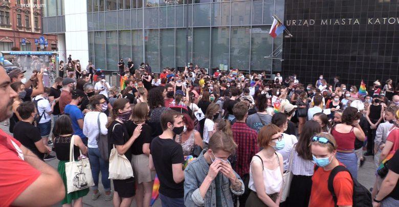 Manifestacja poparcia LGBT w Katowicach. Sprawą zajmuje się policja! [WIDEO]