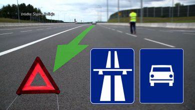 Podstawowe zasady zachowania na autostradzie w razie awarii, kolizji lub wypadku. Film śląskiej policji [WIDEO] (fot.mat.TVS)