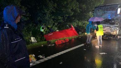 Śmiertelny wypadek pod Gliwicami. 9 osób zginęło w busie na DK 88 w Kleszczowie! (fot.KMP Gliwice)
