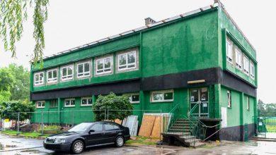 Trwa remont budynku klubowego Szombierek Bytom. Fot. UM w Bytomiu