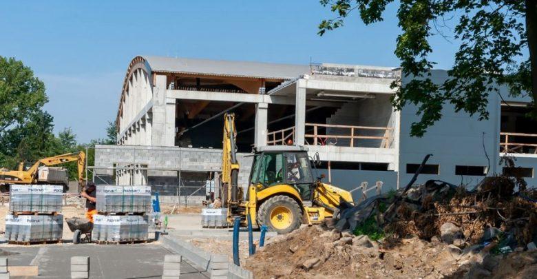 Bytom: Co nowego na placu budowy lodowiska przy Pułaskiego? (fot.UM Bytom)