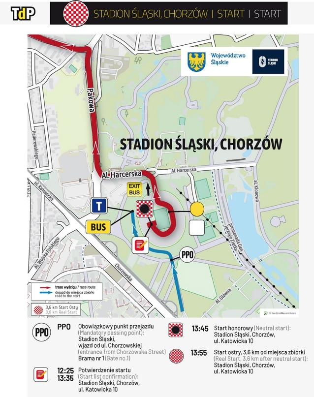W środę start Tour de Pologne ze Stadionu Śląskiego. Zobacz trasę etapu! Fot. TourdePologne.pl