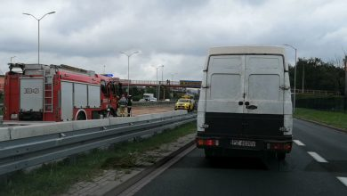 DTŚ, tunel w Katowicach, zakręt przy Mazaku. Trochę deszczu i mamy plagę wypadków na Śląsku!
