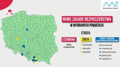 Koronawirus: 3 powiaty na liście rejonów z obostrzeniami. Jest nowa lista Ministerstwa Zdrowia (fot.Ministerstwo Zdrowia)