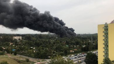 Potężne kłęby dymu nad Sosnowcem! Pali się składowisko odpadów [WIDEO, FOTO]