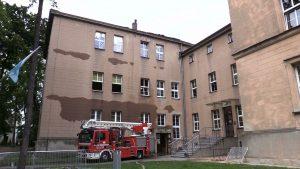 Strażacy z Lublińca znowu musieli gasić ogień w Zespole Szkół Katolickiego Stowarzyszenia Wychowawców w Lublińcu