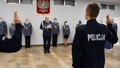 Ślubowanie nowych policjantów w garnizonie śląskim. Przybyło 48 funkcjonariuszy (fot.Śląska Policja)