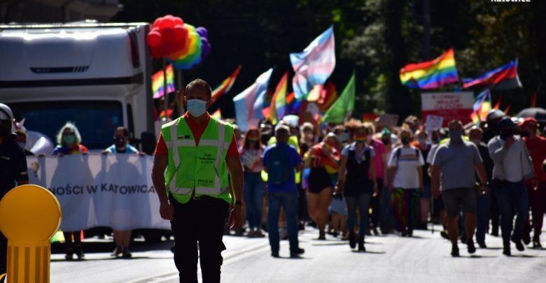 Zbyt dużo osób na Marszu Równości. Będzie wniosek do sądu. Fot. Śląska Policja