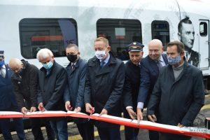 """Major HUBAL ma swój pociąg! Można już pojechać """"Hubalczykiem"""" źródło: http://www.muzeumopoczno.pl"""